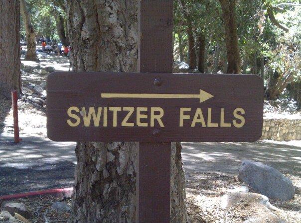 Switzer Falls Map Switzer Falls